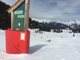 Wood Park at the exit of the Courchevel Family Park